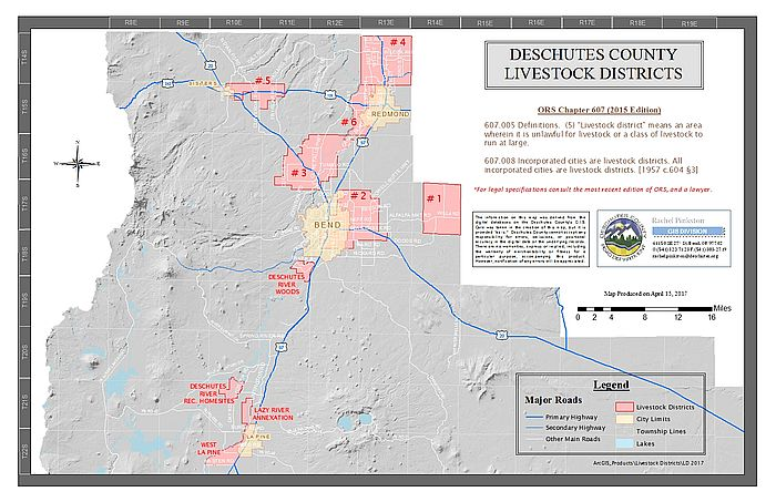 Livestock District Maps Deschutes County Oregon - Oregon county maps
